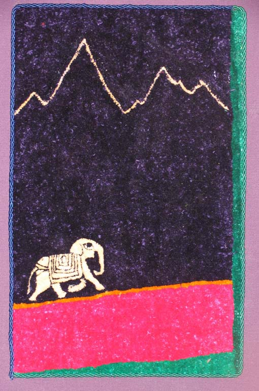 Elephant and mountains 26cm x 18cm