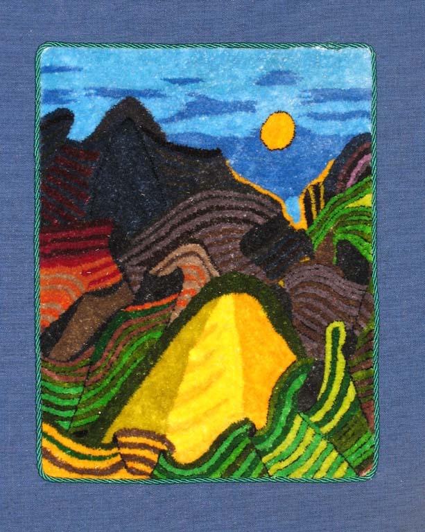 Folding Mountains 21cm x 18cm