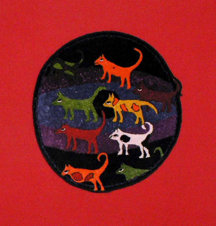Stray dogs of Kathmandu 21cm x 23cm