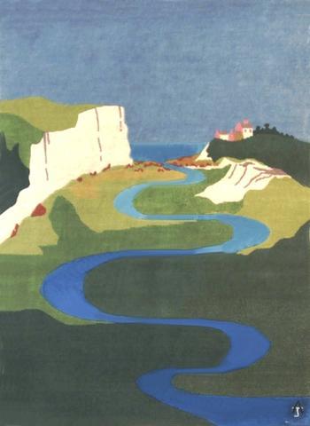 Birling Gap, hand dyed, hand spun, hand woven wool and silk carpet, 118 x 86 cm